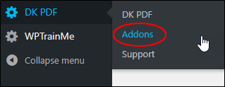 DK PDF - Addonsmenu