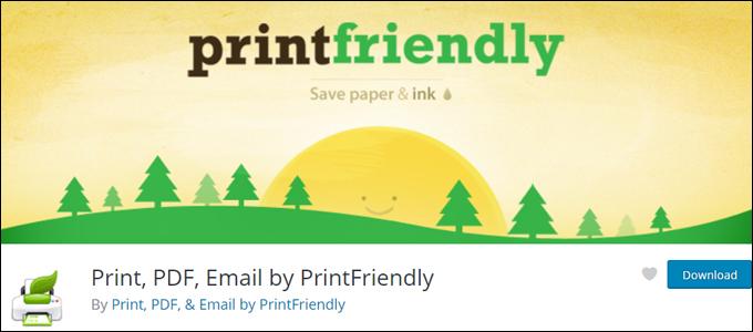 Print, PDF, Email