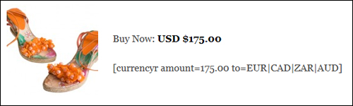 WordPress Plugin - Currency Conversion