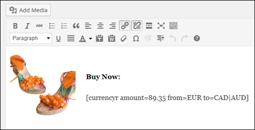 WP Plugin - Currency Converter