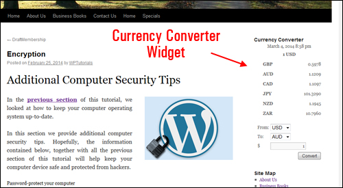 WP Plugin - Currencyr