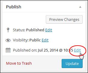 Post Publish Box - Edit