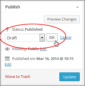Republishing your post