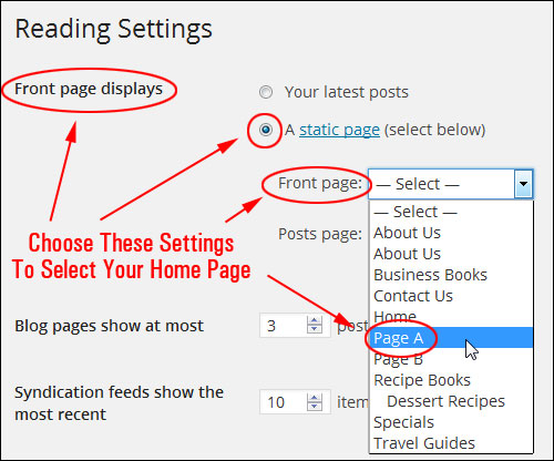 How To Set Any Page In WordPress As A Static Home Page