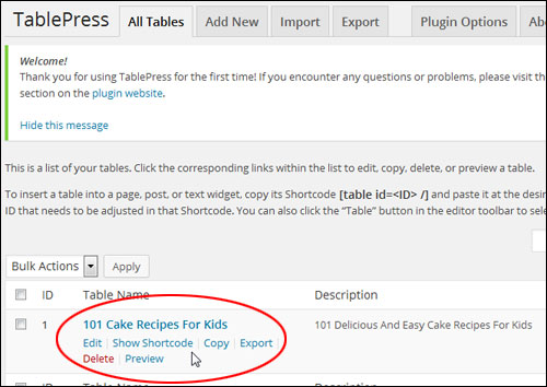 How To Create And Insert Tables Into Your Content With WordPress