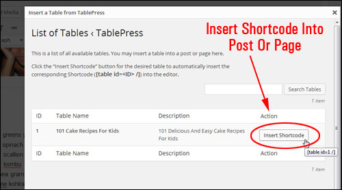 Creating And Inserting Tables Into Your Content Easily In WordPress