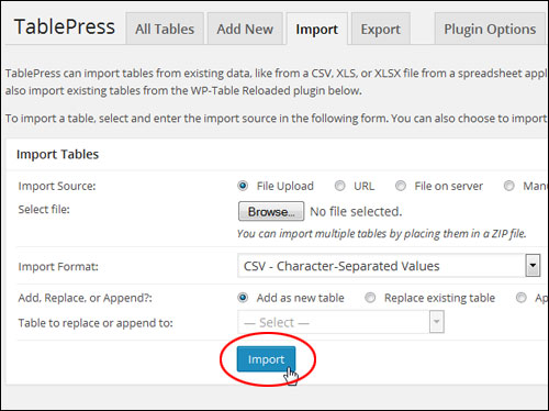 Creating And Adding Tables To WordPress