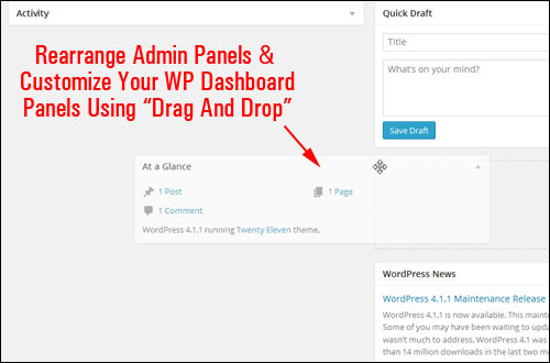 How To Customize Your WP Dashboard Section