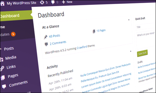 Customizing The WP Dashboard