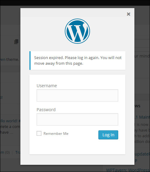 Logging Out Of WordPress
