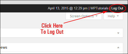 How To Log Off WordPress