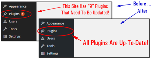 Updating And Deleting Plugins From Your Dashboard