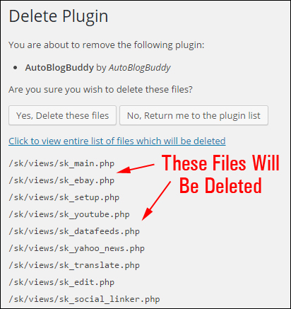 Updating And Deleting Plugins Safely
