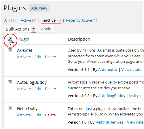 Updating And Deleting Plugins Safely In The Dashboard