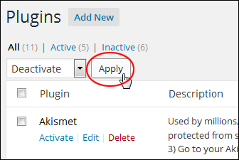 Upgrading And Deleting Plugins Inside The WordPress Dashboard