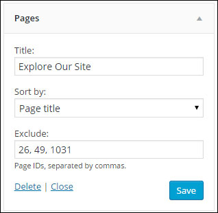 Prevent posts or pages from showing in the WordPress sidebar