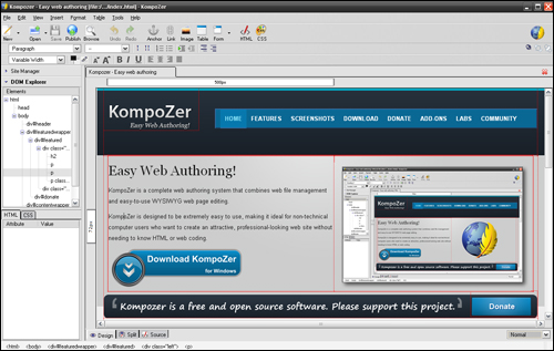 Kompozer - HTML Editor