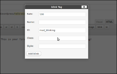 WordPress Plugin - Extensible HTML Editor Buttons