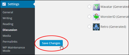 Save WordPress Changes