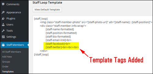 Use template tags to customize your listings page