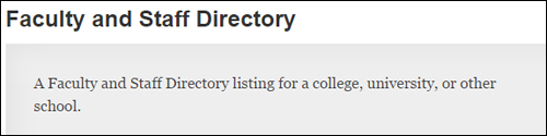 Faculty And Staff Directory - WP Plugin