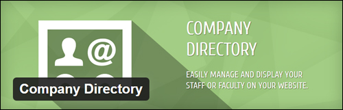 Company Directory - Plugin For WordPress