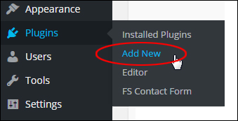 WP Plugins Menu - Add New