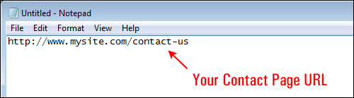 Add A Clickable Contact Button To Your Sidebar Navigation Area Using A Text Widget