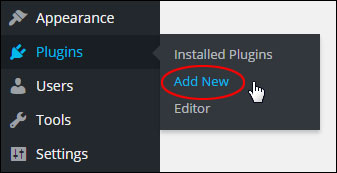 Plugins Menu - Add New