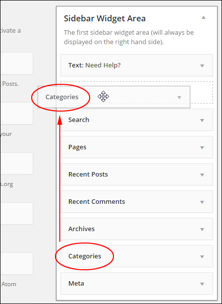 Categories Widget