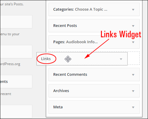 Make Links Widget active