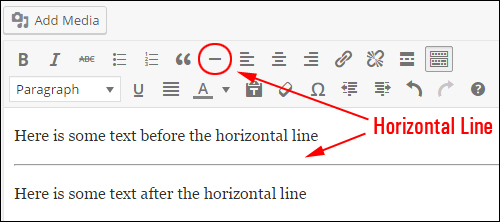 Horizontal line function