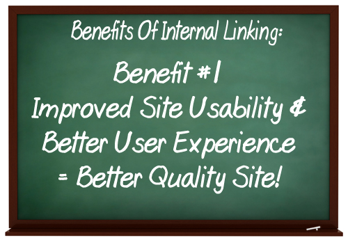Use internal content links to improve website navigation and create a better user experience.