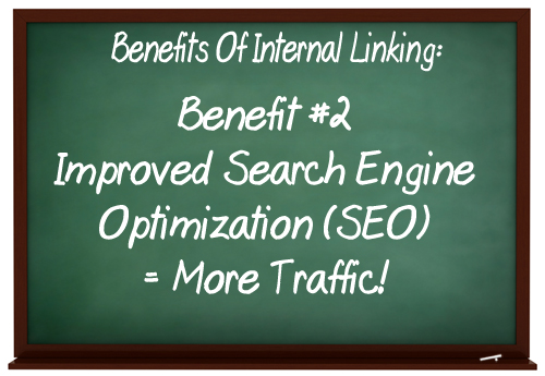 Use internal linking to improve your SEO results.