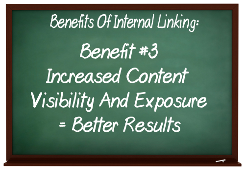 Use content links to increase visibility & exposure for your content.