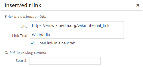 WordPress Internal Linking Tool