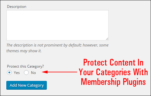 Membership plugins can help protect content in categories