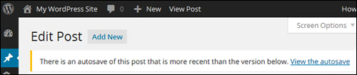 Autosave notification