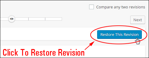 Click to restore selected post revision