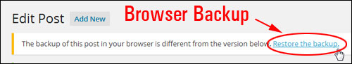 Edit Post - Restore post from browser backup