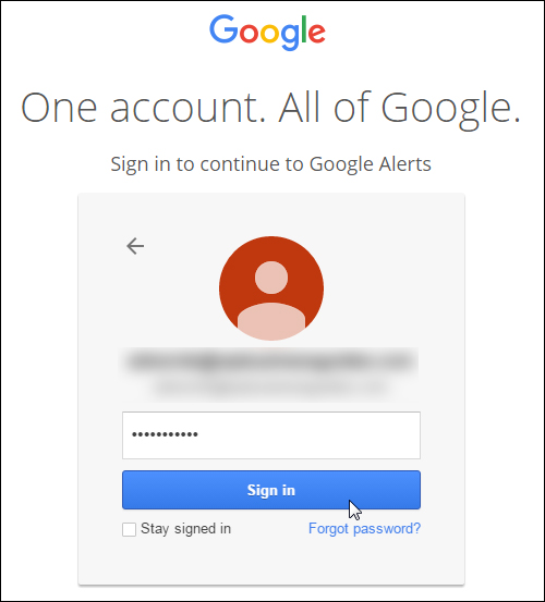 Log into your Google Account