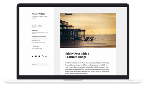 WordPress Update 4.1 - Twenty Fifteen
